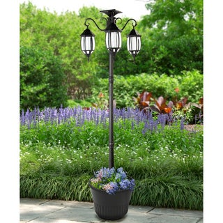 Madison Solar Lamp Post and Planter