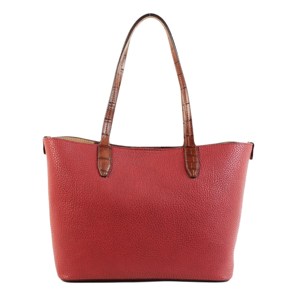Emilie M. Loren Red PVC Pebble Satchel