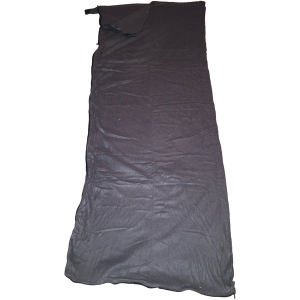 Moose Country Gear Black Fleece Sleeping Bag Liner