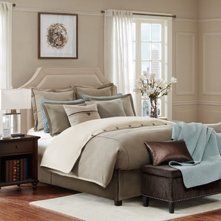 Hampton Hill Kingston Taupe Comforter Set with Bedskirt