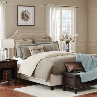 Hampton Hill Kingston Taupe Comforter Set