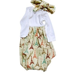 Newborn Layette Set Gown Eiffel Tower