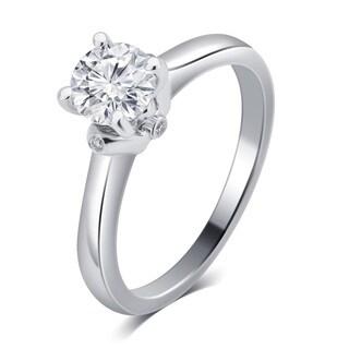 Divina 14k White Gold 1ct TDW IGL Certified Diamond Engagement Ring (G-H, SI1-SI2)