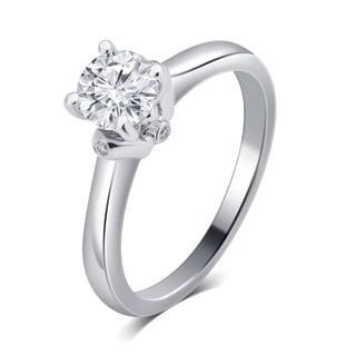 Divina 14K White Gold 3/4ct TDW IGL certified Diamond Engagement Ring.(G-H,SI-I1)