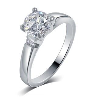 Divina 14k White Gold 3/4ct TDW IGL Certified Diamond Engagement Ring (G-H, SI1-SI2)