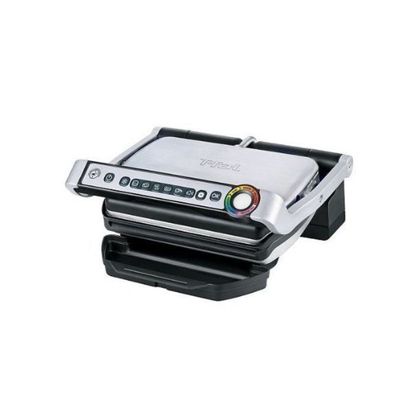 T-Fal OptiGrill Plus GC712D54 Stainless Steel Indoor Electric Grill