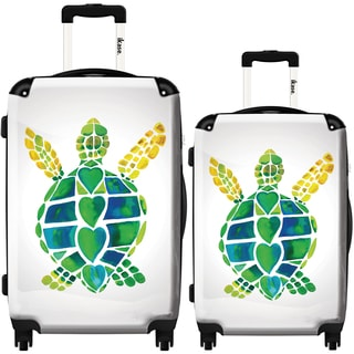 iKase 'Turtle Love' 2-piece Fashion Harside Spinner Luggage Set