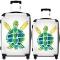 iKase 'Turtle Love' 2-piece Fashion Harside Spinner Luggage Set