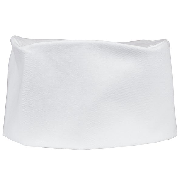 White Denim Adjustable Chef's Cap
