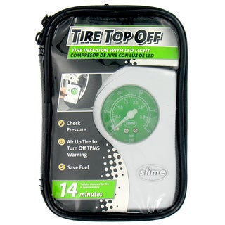 Slime 40020 Tire Top Off Compressor & Inflator With LED Light