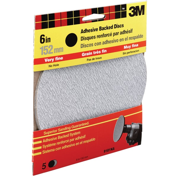 "3M 9181DC-NA 6"" Extra Fine Adhesive Backed Discs"