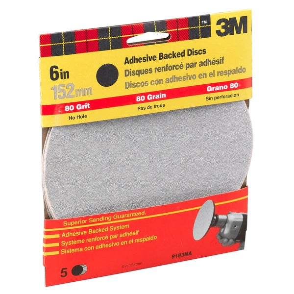 "3M 9183DC-NA 6"" Medium Adhesive Backed Discs"