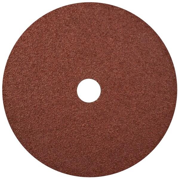 "Norton 01914 7"" 24 Grit Aluminum Oxide Fiber Disc"