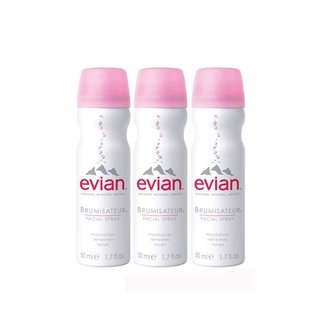 Evian Mineral Water Spray 1.7-ounce Travel Trio