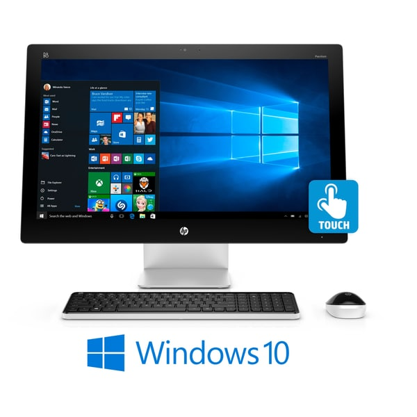 HP Pavilion 23-Inch Full HD Touchscreen, Intel Core i3-6100T, Win 10, All-in One PC