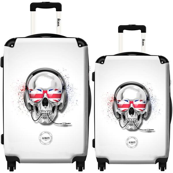 iKase 'London Skull' 2-piece Fashion Harside Spinner Luggage Set