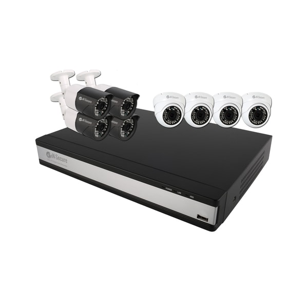 eN-Secure 8-channel DVR CCTV Kit With 4 Bullet and 4 Dome Cameras
