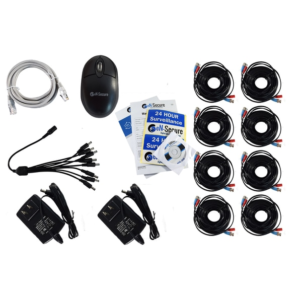 eN-Secure 8 Channel DVR CCTV Kit with 5 Bullet and 3 Dome Cameras