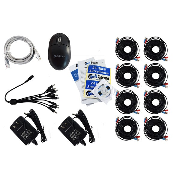 eN-Secure 8-channel DVR CCTV Kit with 6 Bullet and 2 Dome Cameras