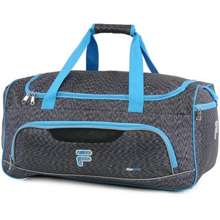 Fila Victory Black/Grey Nylon Sport Duffel Bag