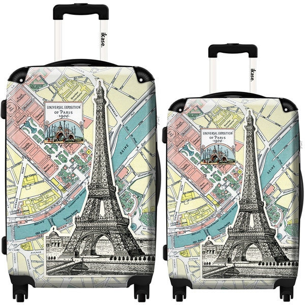 iKase 'Eiffel Tower Card' 2-piece Fashion Harside Spinner Luggage Set