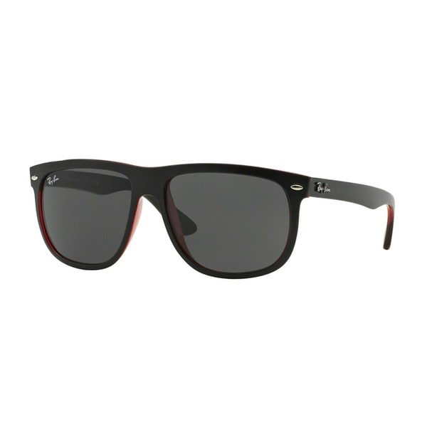 Ray-Ban Men's RB4147 60 Black Plastic Square Sunglasses