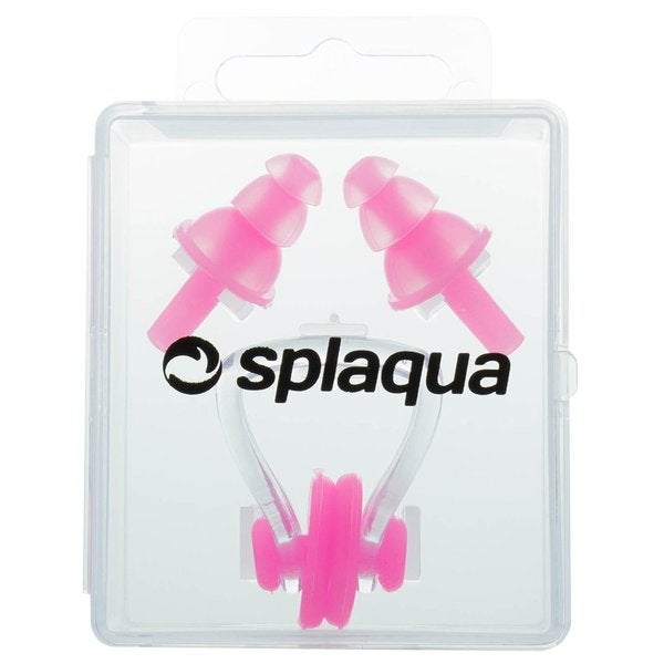 Splaqua Swim Nose Clip and Ear Plugs Combo Set Medical Grade Soft Silicone with Storage Case