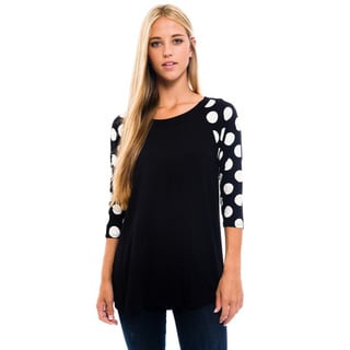 Women's Black Polka-dot Shirt