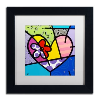 Roberto Rafael 'Big Heart III' Matted Framed Art