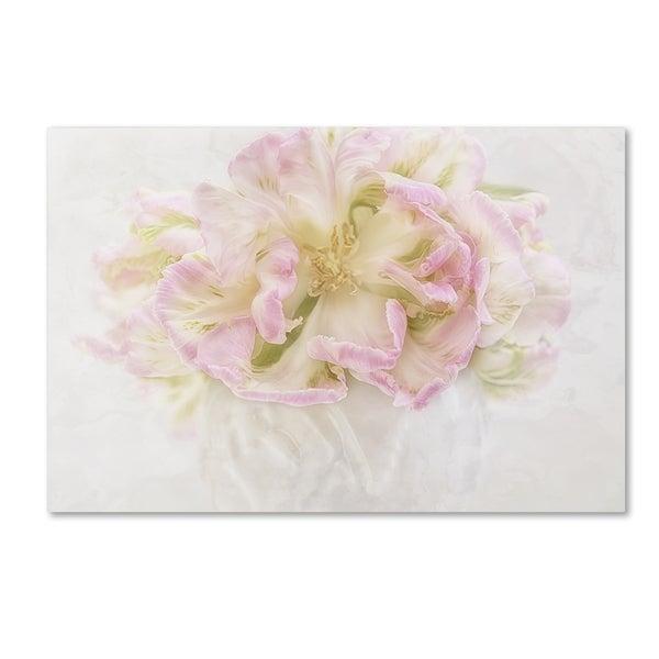 Cora Niele 'Pink Parrot Tulips Bouquet' Canvas Art