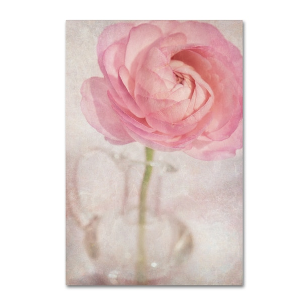 Cora Niele 'Single Rose Pink Flower' Canvas Art