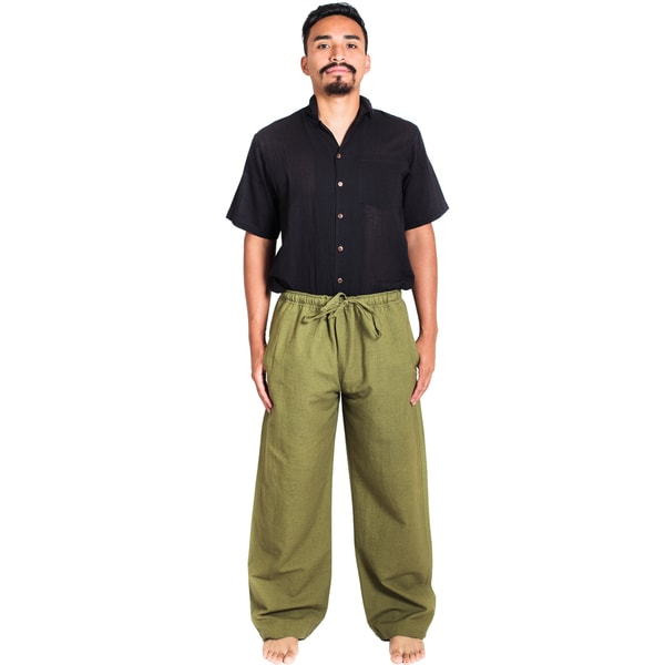 Handmade Hemp-cotton Blend Classic Lounge Pants (Nepal) 19979188