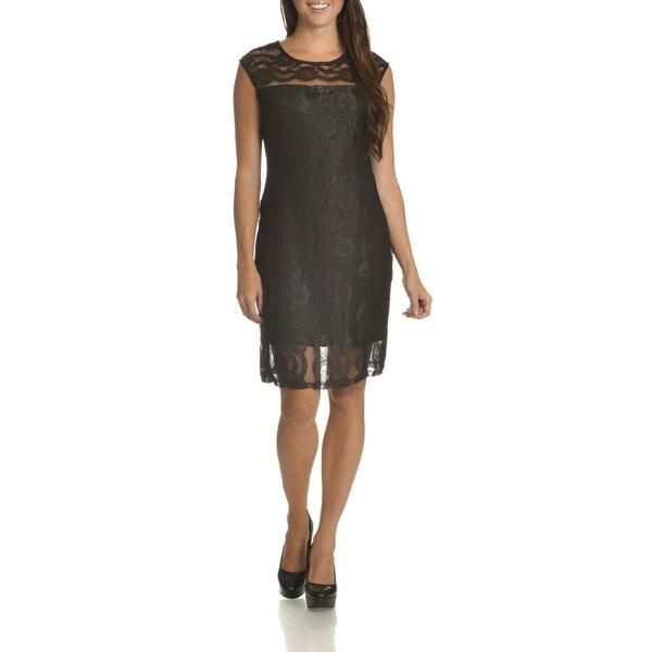 Danillo Boutique Women's Lace Overlay Dress