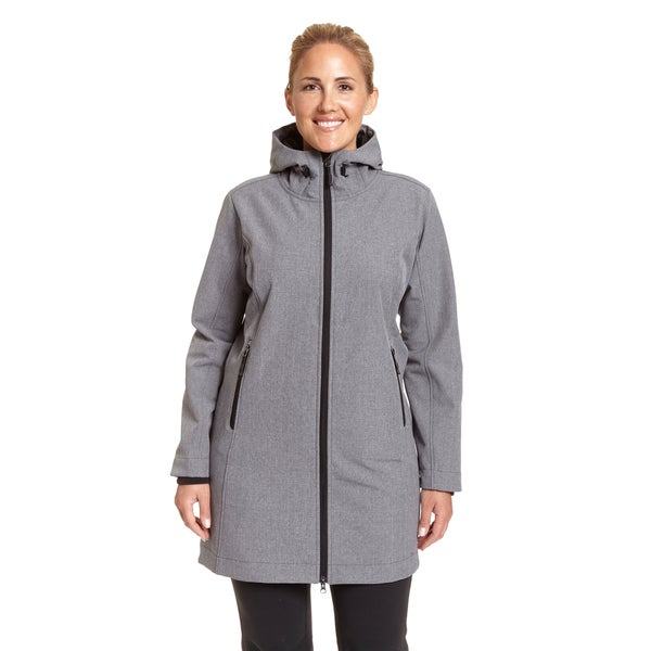 Champion Women's Excelled Polyester Plus-size Hooded 3/4 Softshell Jacket