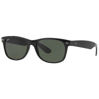 Ray-Ban RB2132 901 New Wayfarer Black Frame Green Classic 58mm Lens Sunglasses