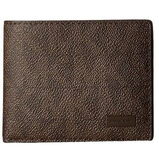 Michael Kors Jet Set Shadow Signature PVC Slim Billfold Brown Bill-fold Wallet