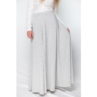Hot Gal Women's Striped Maxi Skirt