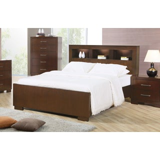 Jessica Collection Cappuccino Wood Bed