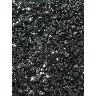 Exotic Pebbles & Aggregates EG10-L02 10-pound Black Glass Pebbles