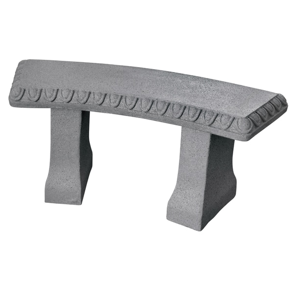 Emsco Group 2307-1 44-inches X 18.5-inches X 8-inches Granite Garden Bench Statue