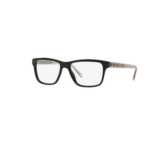 Burberry BE2214 3001 Black Plastic Square Eyeglasses with 55mm Lens