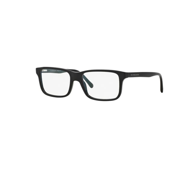 Burberry BE2165 3001 Black Plastic Rectangle Eyeglasses with 55mm Lens