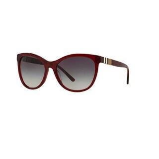 Burberry Women's BE4199 35438G Bordeaux Plastic Square Sunglasses with 58mm Lens