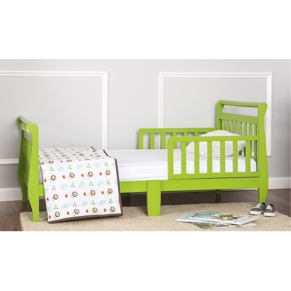 Dream On Me Green Toddler Sleigh Bed