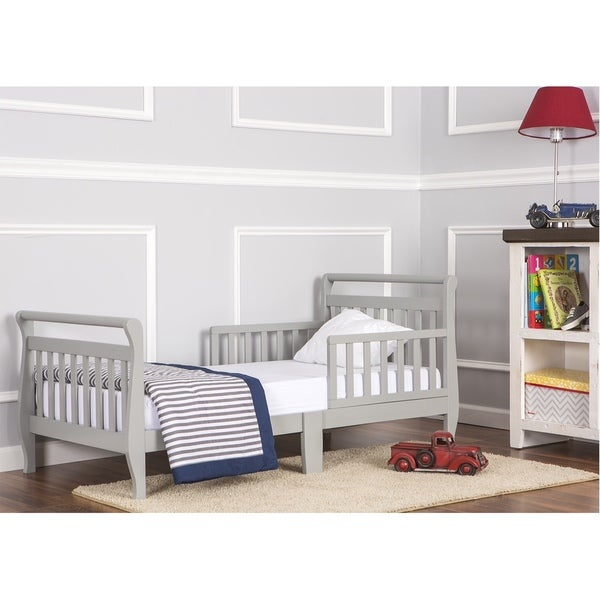 Dream On Me Grey Toddler Sleigh Bed