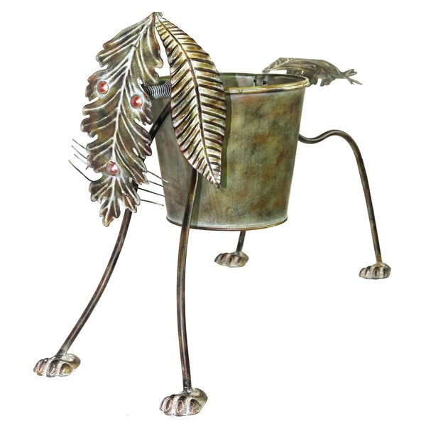 River Cottage Gardens R21347-YGUPS Dog Metal Planter Pot