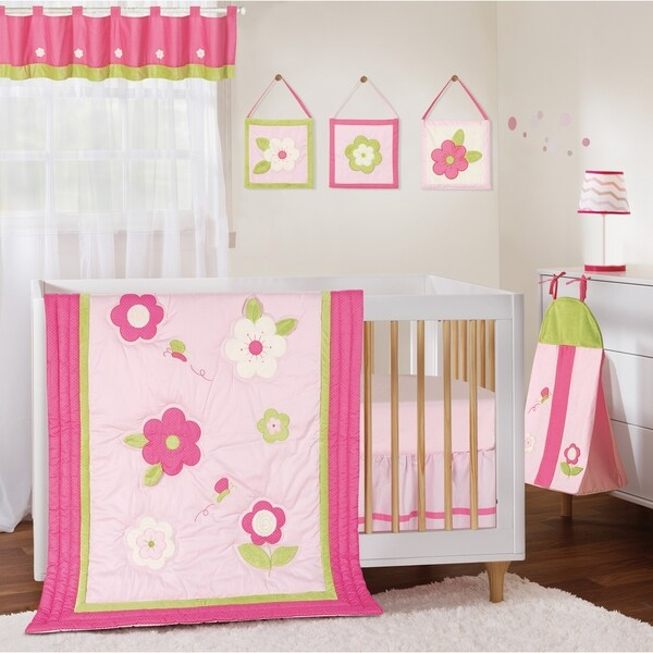 Segma Avinas Pink Cotton 8-piece Crib Bedding Set