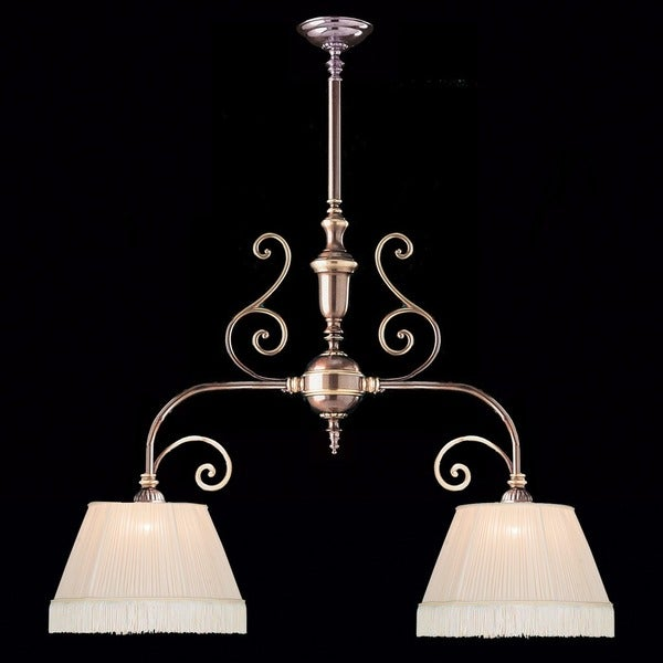 Crystorama Traditional 2-light Roman Bronze Linear Chandelier 19983157