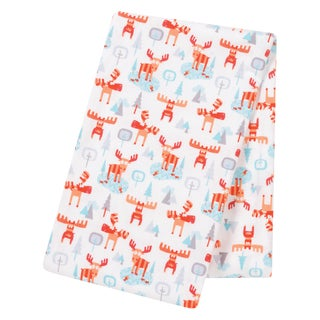 Trend Lab Winter Moose Jumbo Deluxe Flannel Swaddle Blanket