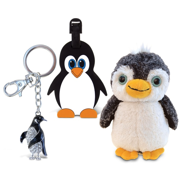 Puzzled Penguin Taggage, Super Soft Plush and Sparkling Pen Set 19983311